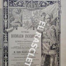 Diccionarios antiguos: ANTIGUO CUADERNO Nº 86 DICCIONARIO ENCICLOPEDICO DE LA LENGUA CASTELLANA D. DELFIN DONADIU Y PUIGNAU. Lote 219616343