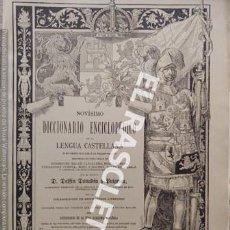 Diccionarios antiguos: ANTIGUO CUADERNO Nº 87 DICCIONARIO ENCICLOPEDICO DE LA LENGUA CASTELLANA D. DELFIN DONADIU Y PUIGNAU. Lote 219616485