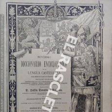 Diccionarios antiguos: ANTIGUO CUADERNO Nº 88 DICCIONARIO ENCICLOPEDICO DE LA LENGUA CASTELLANA D. DELFIN DONADIU Y PUIGNAU. Lote 219616593