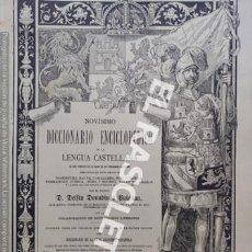 Diccionarios antiguos: ANTIGUO CUADERNO Nº 89 DICCIONARIO ENCICLOPEDICO DE LA LENGUA CASTELLANA D. DELFIN DONADIU Y PUIGNAU. Lote 219616682