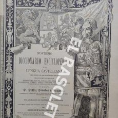 Diccionarios antiguos: ANTIGUO CUADERNO Nº 90 DICCIONARIO ENCICLOPEDICO DE LA LENGUA CASTELLANA D. DELFIN DONADIU Y PUIGNAU. Lote 219616830