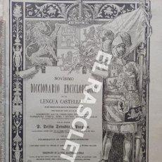 Diccionarios antiguos: ANTIGUO CUADERNO Nº103 DICCIONARIO ENCICLOPEDICO DE LA LENGUA CASTELLANA D. DELFIN DONADIU Y PUIGNAU. Lote 219619587
