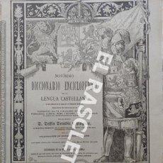 Diccionarios antiguos: ANTIGUO CUADERNO Nº107 DICCIONARIO ENCICLOPEDICO DE LA LENGUA CASTELLANA D. DELFIN DONADIU Y PUIGNAU. Lote 219619936
