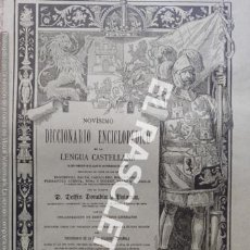 Diccionarios antiguos: ANTIGUO CUADERNO Nº112 DICCIONARIO ENCICLOPEDICO DE LA LENGUA CASTELLANA D. DELFIN DONADIU Y PUIGNAU. Lote 219620735