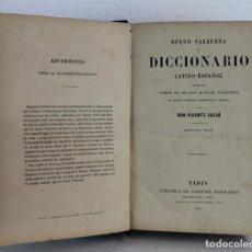 Diccionarios antiguos: DICCIONARIO LATINO-ESPAÑOL O NUEVO VALBUENA POR DON VICENTA SALVÁ, 1873. GARNIER HERMANOS. Lote 219883797