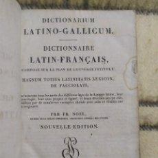 Diccionarios antiguos: 1822. DICCIONARIO LATÍN- FRANCÉS. LATINO-GALLICUM.. Lote 220129623
