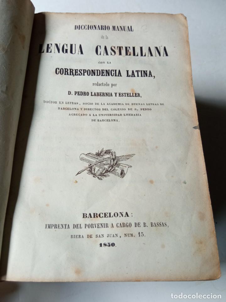 Diccionarios antiguos: ANTIGUO DICCIONARIO ESPAÑOL LATIN, LABERNIA Y ESTELLER. - Foto 5 - 220795288