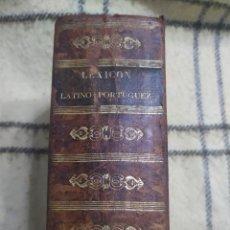Diccionarios antiguos: LEXICON LATINO-PORTUGUEZ ACTUALIZADO. GEOGRÁFICO, MITOLÓGICO, HISTÓRICO Y BIOGRÁFICO. FRANCISCO BROU. Lote 221429345