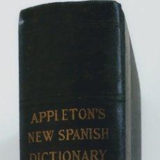 Diccionarios antiguos: DICCIONARIO APPLETON'S NEW SPANISH DICTIONARY.1926 POR ARTURO CUYÁS.EDITADO EN ESTADOS UNIDOS. Lote 222232143