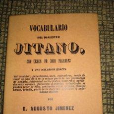 Diccionarios antiguos: VOCABULARIO DEL DIALECTO JITANO. Lote 222259335