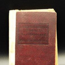 Diccionarios antiguos: PEQUEÑO DICCIONARIO FRANCES-ALEMAN/ ALEMÁN-FRANCÉS. AÑO 1911.. Lote 222288696