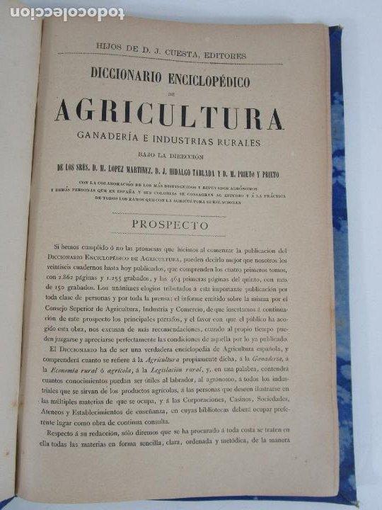 Diccionarios antiguos: Diccionario Enciclopédico de Agricultura - Ganadería e Industrias Rurales - Tomo I - 1885 - Foto 2 - 222685900