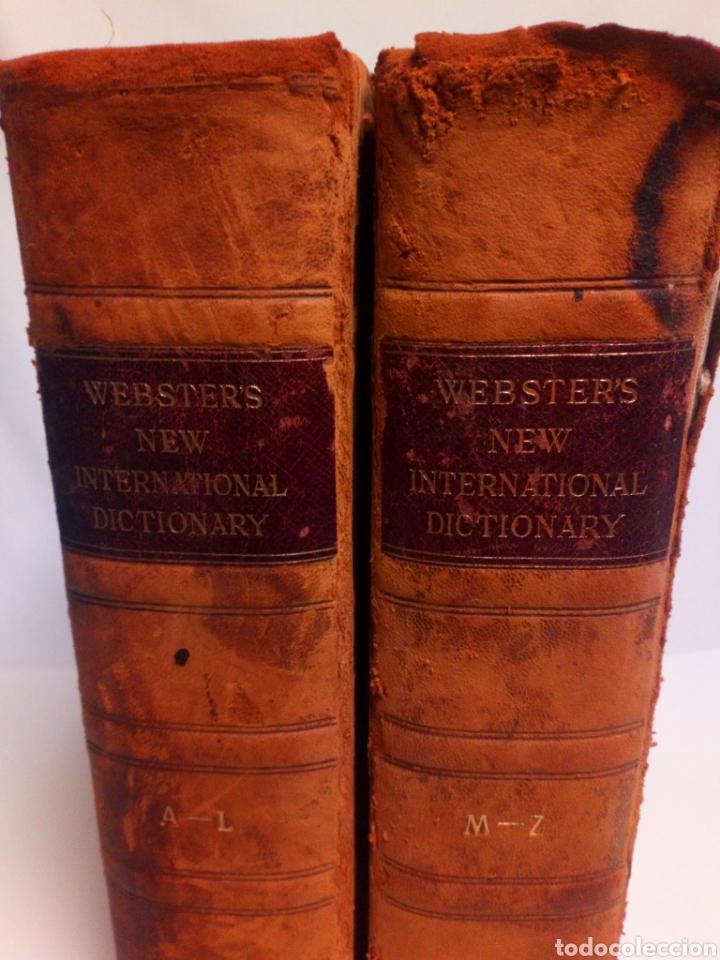 Diccionarios antiguos: Websters New international dictionary. Edición 1924 - Foto 2 - 223377963