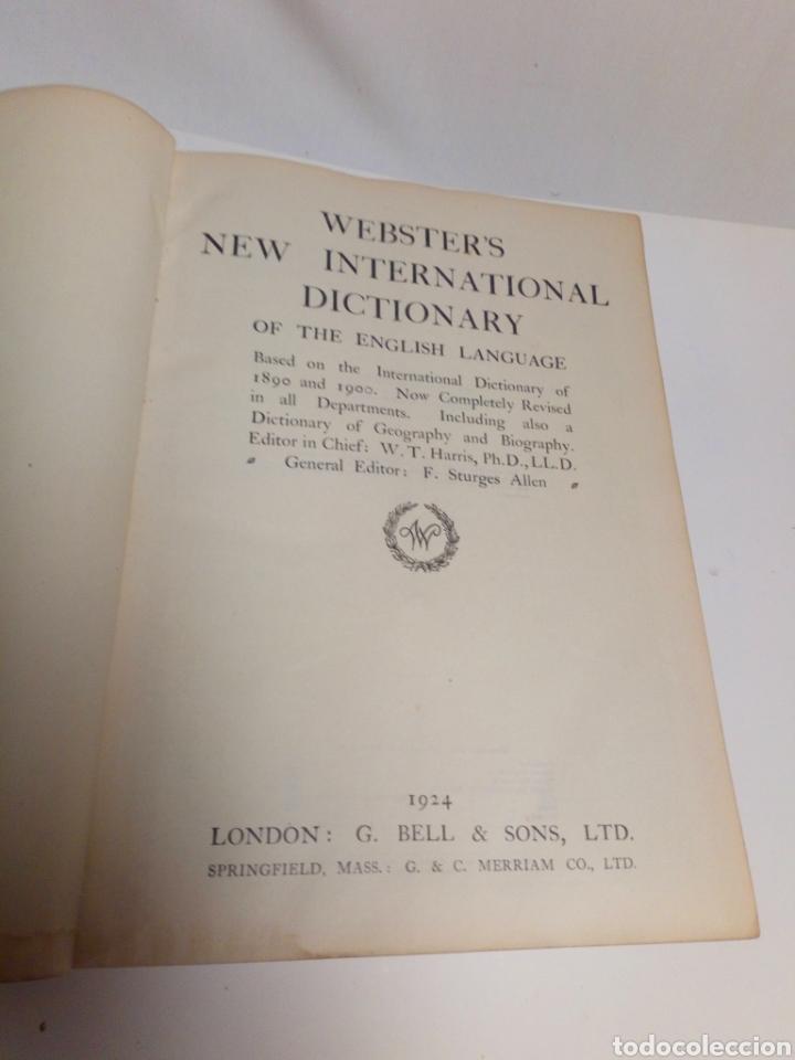 Diccionarios antiguos: Websters New international dictionary. Edición 1924 - Foto 9 - 223377963