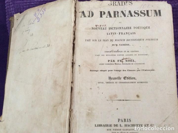 FR. NOEL. GRADUS AD PARNASSUM OU NOUVEAU DICTIONNAIRE POETIQUE LATIN-FRANCAIS...1869 (Libros Antiguos, Raros y Curiosos - Diccionarios)