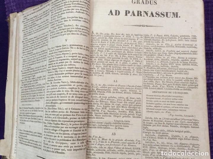 Diccionarios antiguos: Fr. Noel. GRADUS AD PARNASSUM ou nouveau dictionnaire poetique latin-francais...1869 - Foto 6 - 224030238