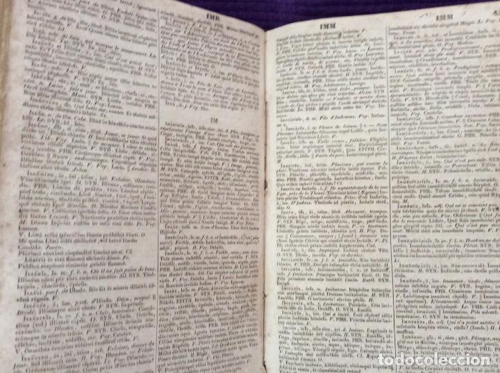 Diccionarios antiguos: Fr. Noel. GRADUS AD PARNASSUM ou nouveau dictionnaire poetique latin-francais...1869 - Foto 8 - 224030238