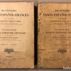 Diccionarios antiguos: DICCIONARIO VASCO - ESPAÑOL - FRANCÉS POR EL PRESBÍTERO RESURRECCIÓN MARÍA DE AZKUE. 1905-06. 2 TOMO. Lote 225825890