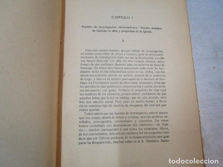 Diccionarios antiguos: GALICIA ARTISTICA EN EL SIGLO XVIII Y PRIMER TERCIO DEL XIX - JOSE COUSELO BOUZAS - SANTIAGO 1932 + - Foto 3 - 226004082