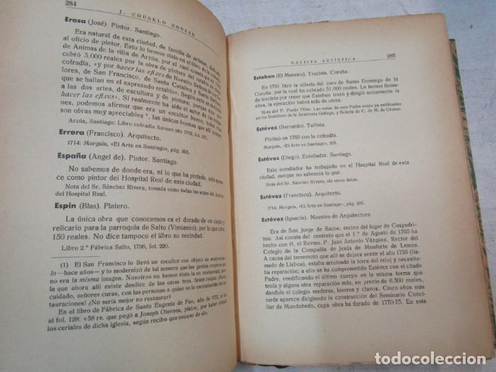Diccionarios antiguos: GALICIA ARTISTICA EN EL SIGLO XVIII Y PRIMER TERCIO DEL XIX - JOSE COUSELO BOUZAS - SANTIAGO 1932 + - Foto 4 - 226004082