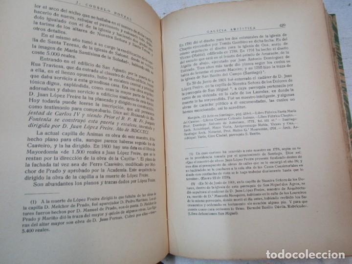 Diccionarios antiguos: GALICIA ARTISTICA EN EL SIGLO XVIII Y PRIMER TERCIO DEL XIX - JOSE COUSELO BOUZAS - SANTIAGO 1932 + - Foto 5 - 226004082