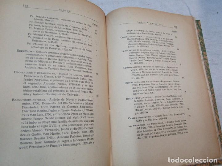Diccionarios antiguos: GALICIA ARTISTICA EN EL SIGLO XVIII Y PRIMER TERCIO DEL XIX - JOSE COUSELO BOUZAS - SANTIAGO 1932 + - Foto 10 - 226004082