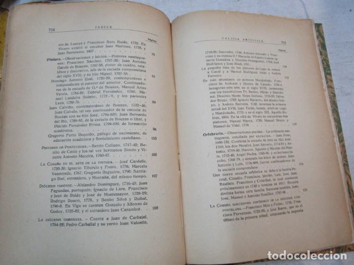 Diccionarios antiguos: GALICIA ARTISTICA EN EL SIGLO XVIII Y PRIMER TERCIO DEL XIX - JOSE COUSELO BOUZAS - SANTIAGO 1932 + - Foto 11 - 226004082