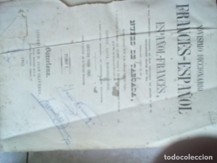 Diccionarios antiguos: NOVISIMO DICCIONARIO FRANCES-ESPAÑOL Y ESPAÑOL- FRANCES. NUÑEX DE TABOADA. BARCELONA 1863. - Foto 3 - 226224410