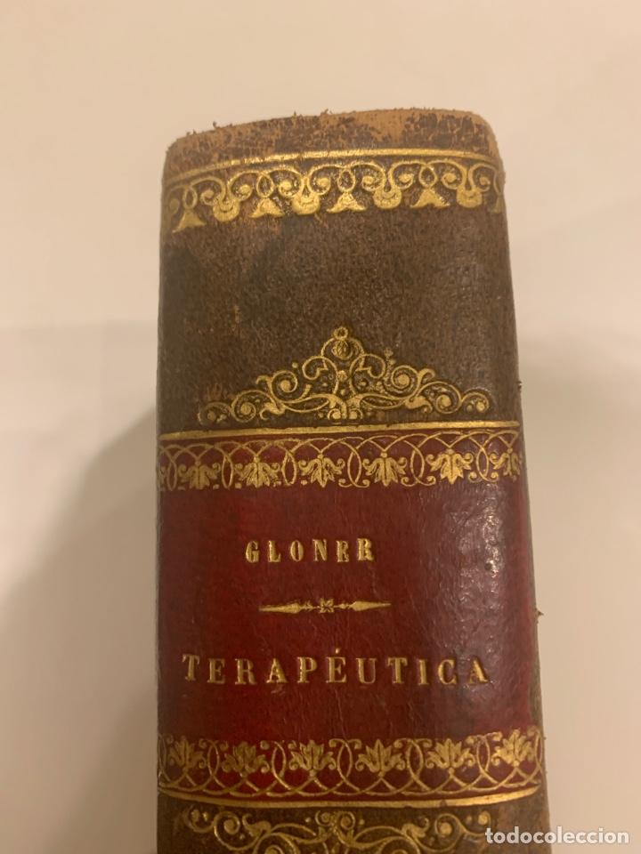 Diccionarios antiguos: Nuevo diccionario de terapéutica,Gloner ,1878, 1º tomo , de la A a la F - Foto 2 - 227630830