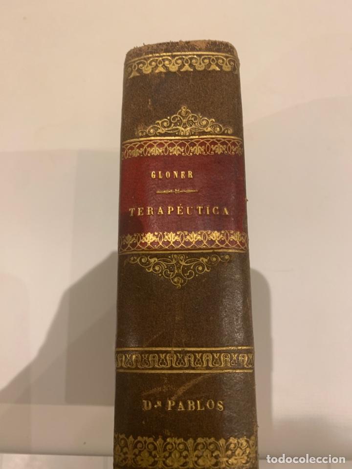 Diccionarios antiguos: Nuevo diccionario de terapéutica,Gloner ,1878, 1º tomo , de la A a la F - Foto 3 - 227630830