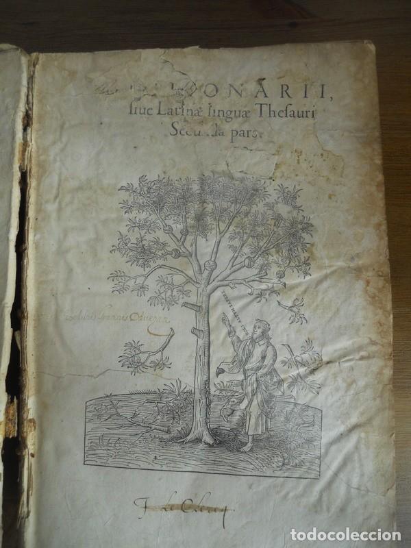 DICTIONARII SIVE LINGUAE LATINAE. SECUNDA PARS. ROBERT ESTIENNE. PARIS, 1536 DICCIONARIO LATÍN (Libros Antiguos, Raros y Curiosos - Diccionarios)