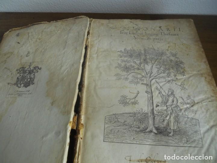 Diccionarios antiguos: DICTIONARII SIVE LINGUAE LATINAE. SECUNDA PARS. ROBERT ESTIENNE. PARIS, 1536 DICCIONARIO LATÍN - Foto 3 - 227712995