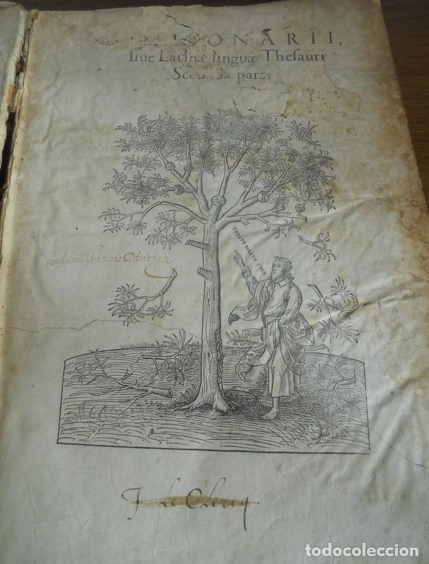Diccionarios antiguos: DICTIONARII SIVE LINGUAE LATINAE. SECUNDA PARS. ROBERT ESTIENNE. PARIS, 1536 DICCIONARIO LATÍN - Foto 4 - 227712995