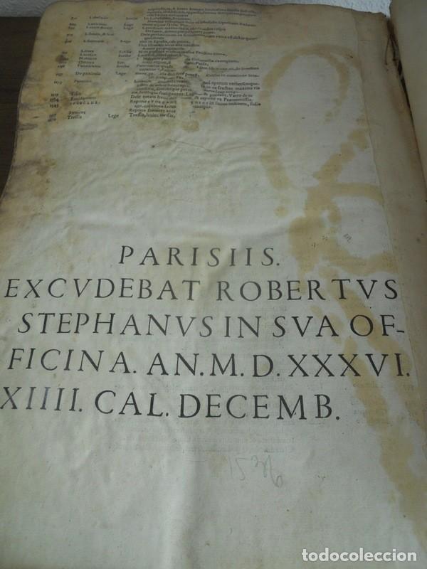 Diccionarios antiguos: DICTIONARII SIVE LINGUAE LATINAE. SECUNDA PARS. ROBERT ESTIENNE. PARIS, 1536 DICCIONARIO LATÍN - Foto 16 - 227712995