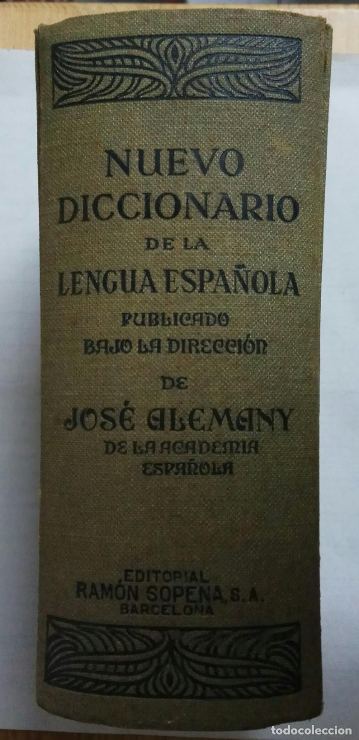 Diccionarios antiguos: NUEVO DICCIONARIO DE LA LENGUA ESPAÑOLA - JOSE ALEMANY - 1935 - EDIT.RAMON SOPENA - Foto 2 - 27946827