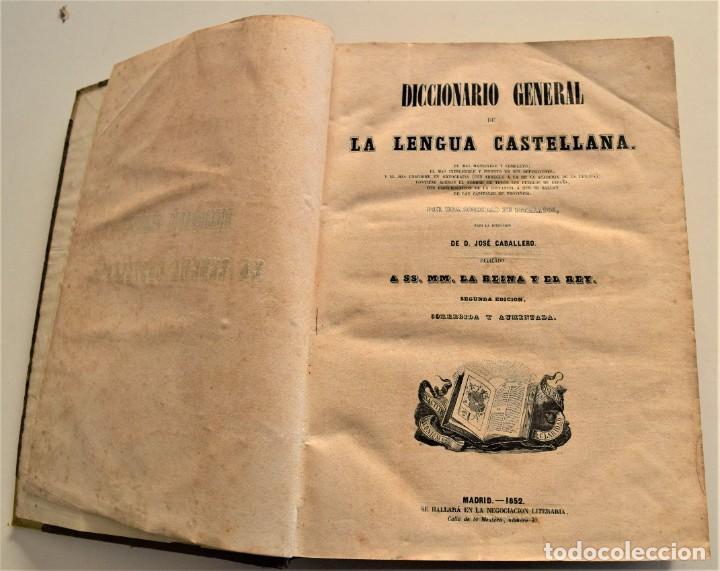 Diccionarios antiguos: DICCIONARIO GENERAL DE LA LENGUA CASTELLANA - BAJO LA DIRECCIÓN DE JOSÉ CABALLERO - MADRID 1852 - Foto 4 - 228449490