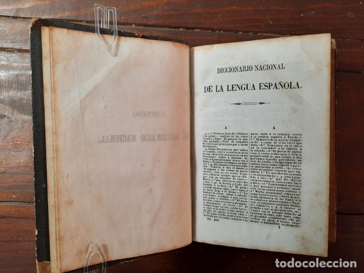 Diccionarios antiguos: DICCIONARIO NACIONAL DE LA LENGUA ESPAÑOLA, 2 TOMOS - D.R.J. DOMINGUEZ - NO CONSTA AÑO NI EDITORIAL - Foto 5 - 229590585