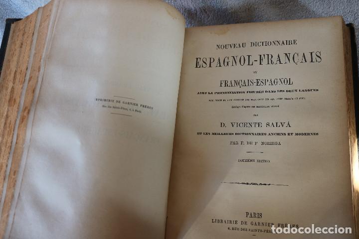 Diccionarios antiguos: NUEVO DICCIONARIO FRANCES-ESPAÑOL ESPAÑOL-FRANCES - VICENTE SALVÁ - GARNIER HERMANOS PARIS 1890 - Foto 9 - 229683435