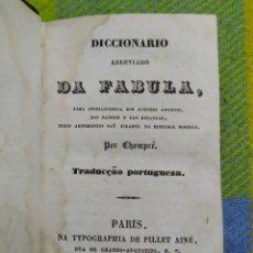 Diccionarios antiguos: 1839. DICCIONARIO ABREVIADO DA FABULA.. Lote 230109725
