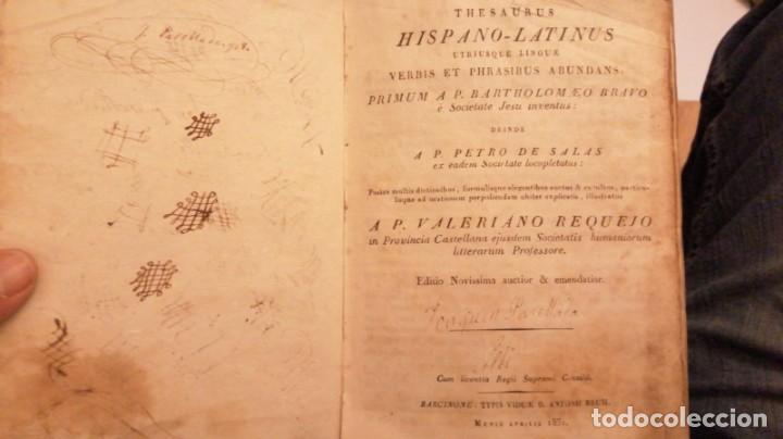 Diccionarios antiguos: THESAURUS HISPANO-LATINUS. DICCIONARIO CASTELANO-LATIN EN TAPAS DE PERGAMINO.AÑO 1831 - Foto 6 - 230404615