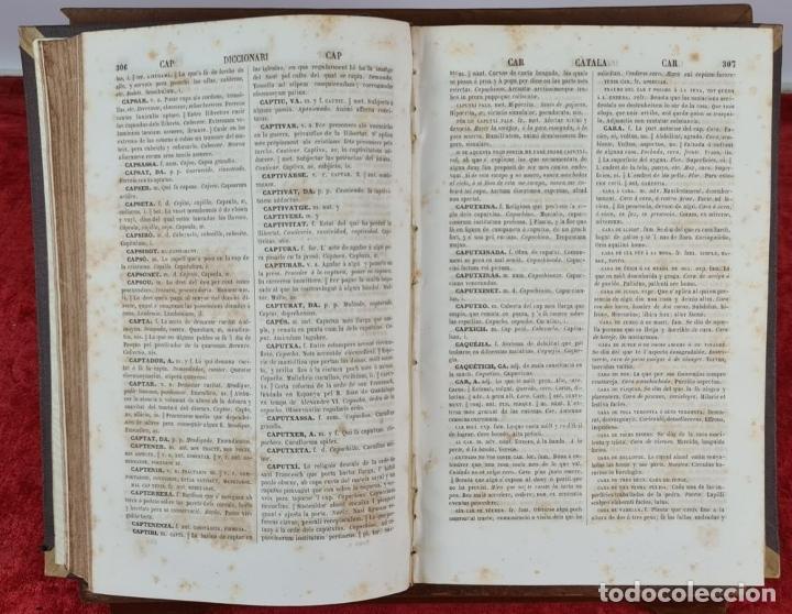 Diccionarios antiguos: DICCIONARI DE LA LLENGUA CATALANA. PERE LABERNIA. ESPASA HERMANOS. 2 VOL. 1864. - Foto 4 - 230684625