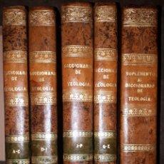 Diccionarios antiguos: DICCIONARIO DE TEOLOGÍA POR EL ABATE BERGIER MADRID 1847 4 TOMOS + SUPLEMENTO. Lote 235795285