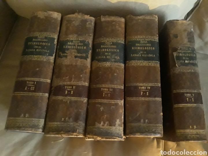DICCIONARIO ETIMOLÓGICO DE LA LENGUA ESPAÑOLA . BARCIA .1881 . 5 TOMOS . (Libros Antiguos, Raros y Curiosos - Diccionarios)