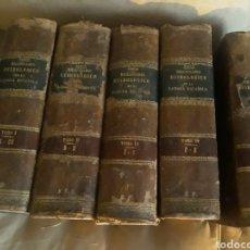 Diccionarios antiguos: DICCIONARIO ETIMOLÓGICO DE LA LENGUA ESPAÑOLA . BARCIA .1881 . 5 TOMOS .. Lote 236100865