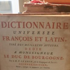 Libri antichi: DICCIONARIO UNIVERSAL FRANCES LATIN 2 EDICION AÑO 1760. Lote 237559710