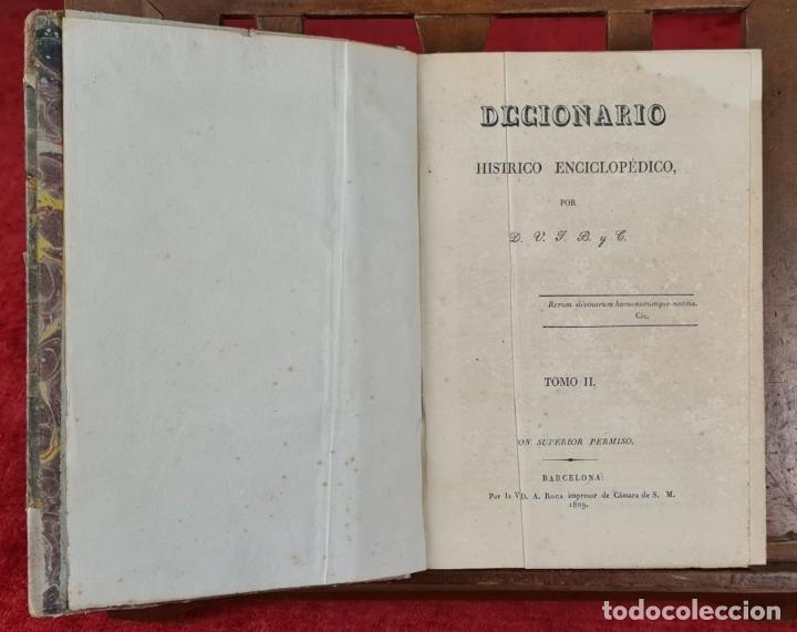 Diccionarios antiguos: DICCIONARIO HISTORICO ENCICLOPÉDICO. JOAQUIN BASTÚS. IMP. A. ROCA. 3 TOMOS. 1829. - Foto 2 - 240813840