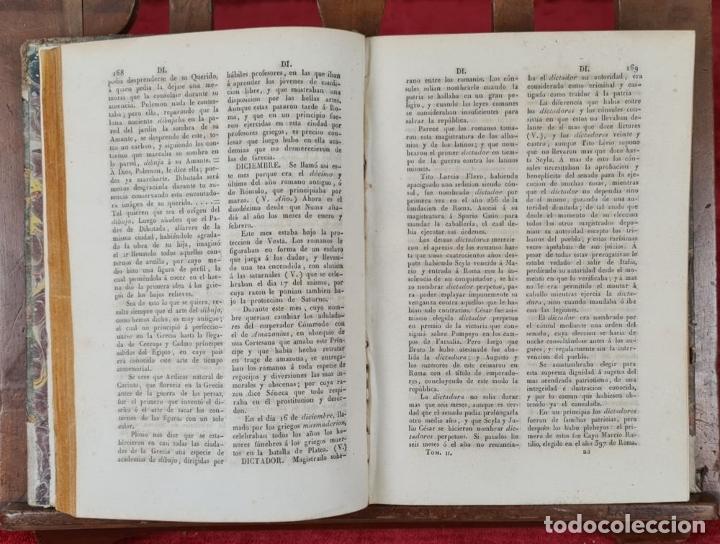 Diccionarios antiguos: DICCIONARIO HISTORICO ENCICLOPÉDICO. JOAQUIN BASTÚS. IMP. A. ROCA. 3 TOMOS. 1829. - Foto 4 - 240813840