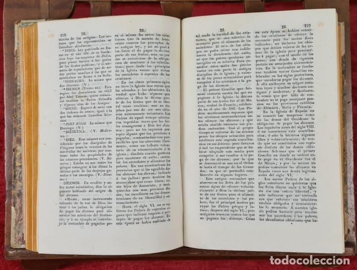 Diccionarios antiguos: DICCIONARIO HISTORICO ENCICLOPÉDICO. JOAQUIN BASTÚS. IMP. A. ROCA. 3 TOMOS. 1829. - Foto 5 - 240813840
