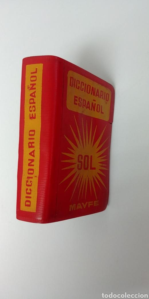 Diccionarios antiguos: Rarisimo Mini diccionario español SOL año 1862. Ediciones Mayfe - Foto 2 - 241058305