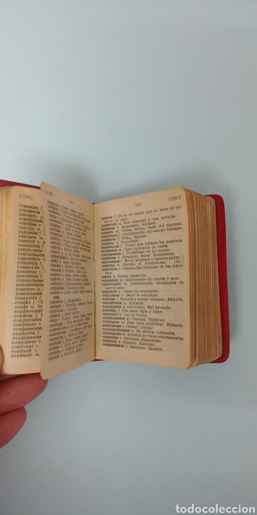 Diccionarios antiguos: Rarisimo Mini diccionario español SOL año 1862. Ediciones Mayfe - Foto 4 - 241058305